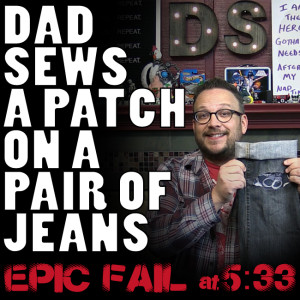 How To Sew A Patch On A Pair Of Jeans Or Pants At DadSews.com