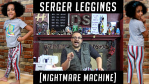 Dad Sews A Pair Of Leggings On A Serger - Tips on thread breaking
