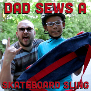 Download the skateboard sling pattern now!
