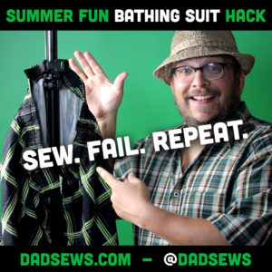 Dad Sews A Bathing Suit Hack - Quick Adjust Waist and Hanger