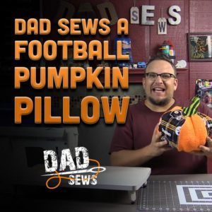 How To Sew A Stuffed Pumpkin - NFL Pumpkin - DadSews.com