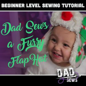 Dad Sews A Toddler Fur Ear Flap Hat - FREE Pattern