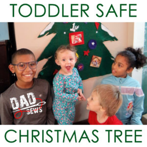 Toddler Safe Christmas Tree - Felt Christmas Tree Tutorial