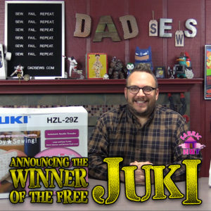 JUKI Sewing Machine Giveaway Winner Announced - DadSews & Fabric Hut