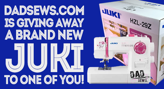 DadSews.com is giving away a Brand New JUKI to it's subcribers, viewers, readers - Juki GIVEAWAY