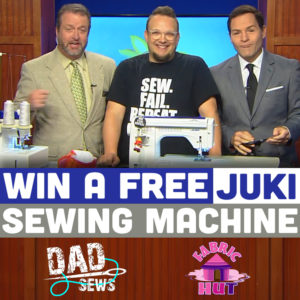 Win a FREE JUKI Sewing Machine - DadSews on WTVR