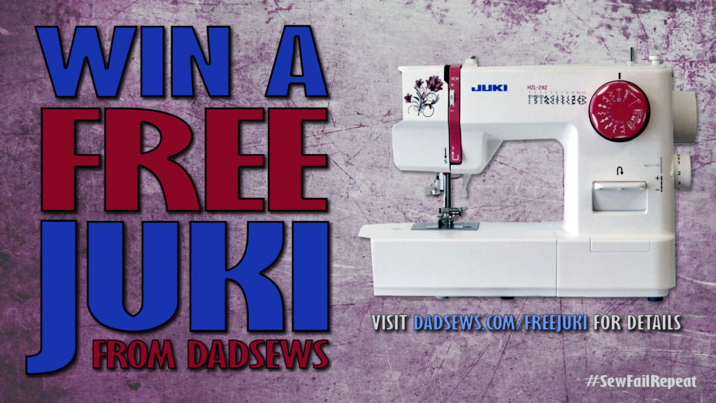 Win a FREE JUKI Sewing Machine from DadSews.com and FabricHut.com