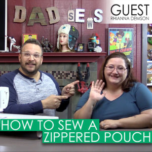 Dad Sews A Simple Zippered Bag - How to sew with a zipper
