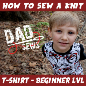 How to sew a T-shirt / Sewing with Stretch Fabric - Knit Shirt Intstagram pinterest Dadsews