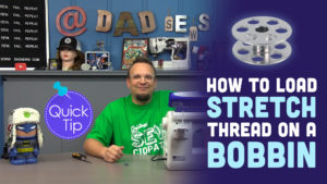 Wind a Bobbin with Elastic Thread (How to sew with Elastic thread) - DadSews Quick Tip