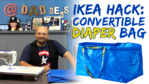 IKEA Blue Bag FRAKTA Hack - Sew a Convertible Diaper Bag for Dad