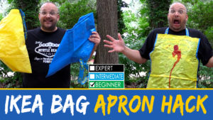IKEA Bag to Apron Hack - FRAKTA Hack - DADSEWS