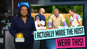 Dad Sews A Romper On CBS - 'Virginia This Morning' - #RompDad