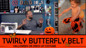 Dad Sews A Twirly Elastic Butterfly Belt / Skirt - Halloween Costume - @DadSews