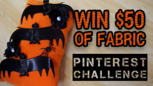 Pinterest Challenge: Sewing a Halloween Pillow & $50 of Fabric for YOU! - DadSews