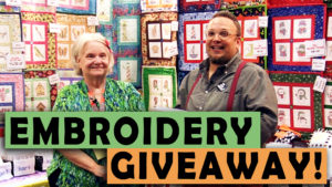Embroidery Pattern Giveaway with DadSews and Charming Station