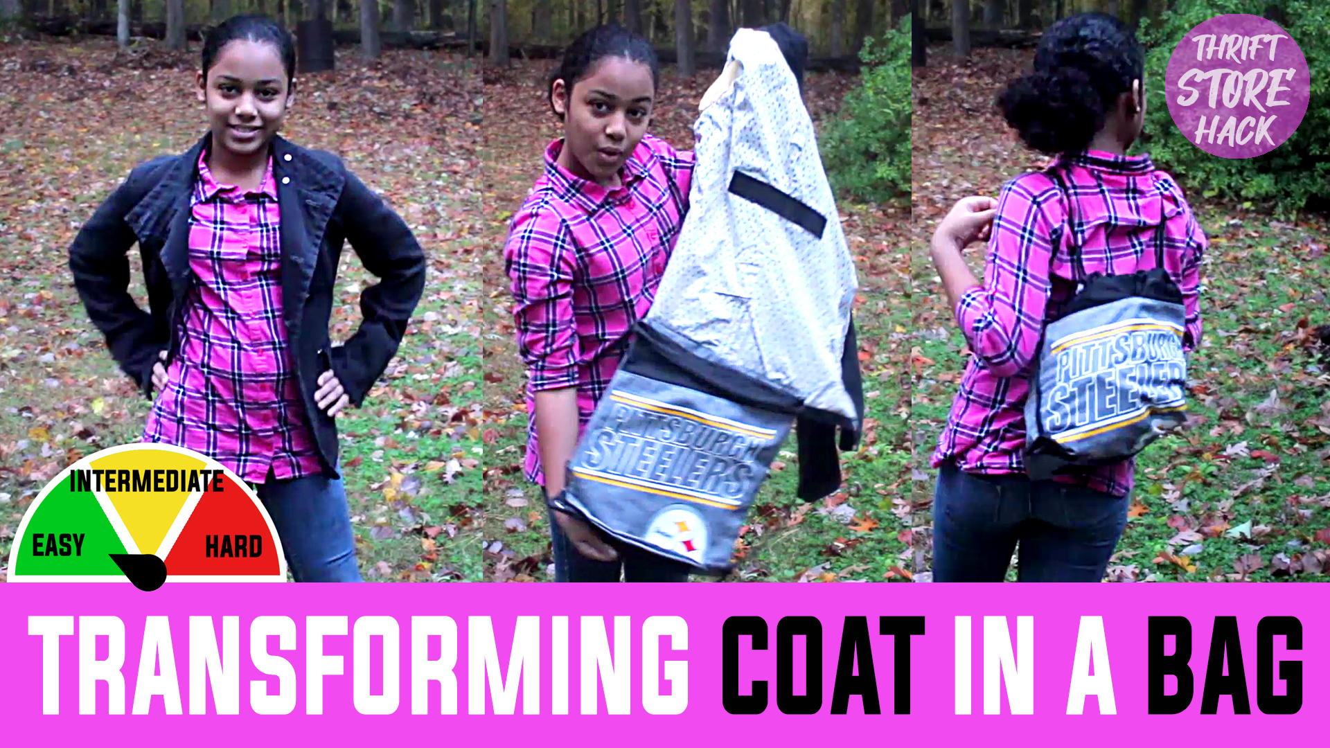THRIFT SEWING HACK: Coat In A Bag? Bag In A Coat?