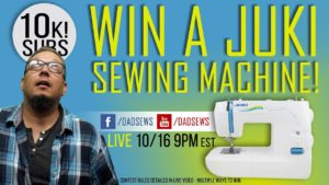 LIVE GIVEAWAY: Learn how to ENTER TO WIN a JUKI Sewing Machine!