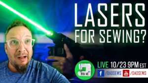 Laser Scissors Sewing Gadget Review - LIVE GIVEAWAY!